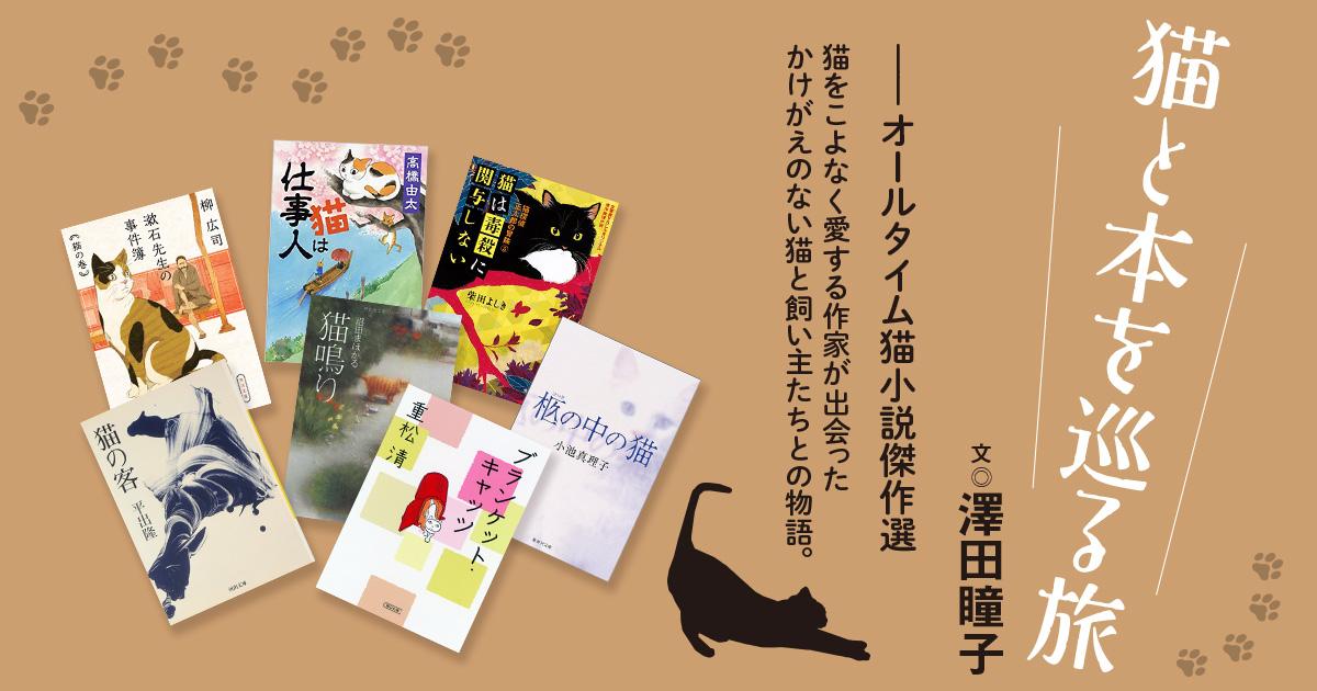 澤田瞳子さんが選ぶ10冊【猫小説傑作選】 表紙にもいろんな表情の猫が ...